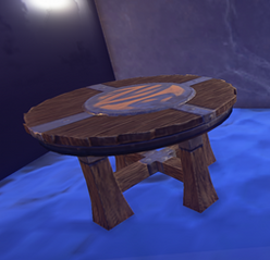 Small Painted Table prop placed