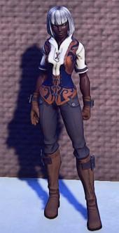 Pathfinders Gear Orange equipped