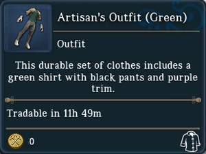 Artisans Outfit Green examine