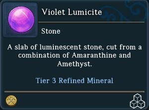Violet Lumicite