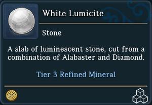 White Lumicite
