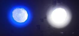 Landmark Blue Light Orb w White placed.