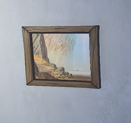 Desert Painting prop placed