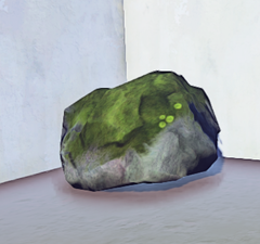 Small Mossy Old Growth Rock 2 prop placed