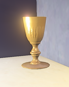 Landmark Short Gold Stemmed Glass prop placed