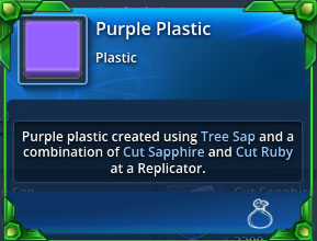 Purple-plastic