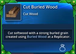 Cut-burled-wood