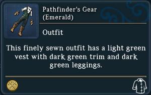 Pathfinders Gear Emerald examine