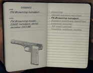 FN Browning 1922 notebook