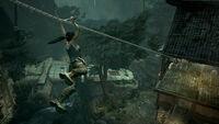 Tomb Raider Screenshot VillageZipline