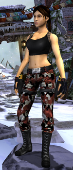 Relic Run Outfit Red Camo