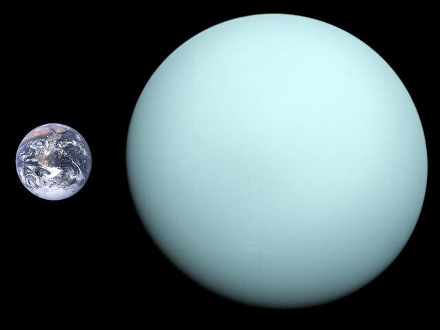 File:Uranus, Earth size comparison 2.jpg