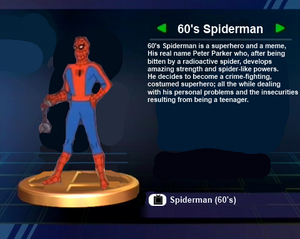 60s Spiderman Trophy