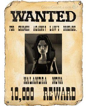 Xalandra Nova's Wanted Poster