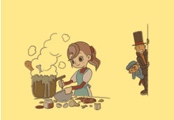 File:Professor Layton and the Curious Village - (Credits) Flora cooking something inedible...png
