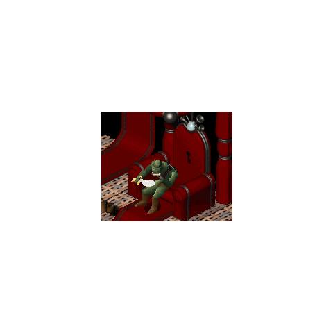 Ghazkhul waiting at Queen Astrid's throne