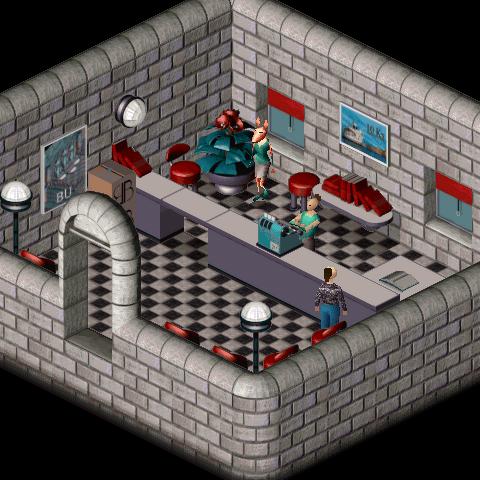 The interior in LBA2