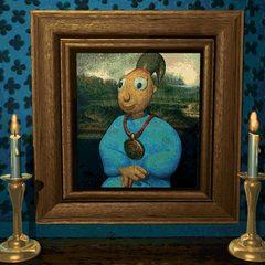the portrait of Twinsen in the exhibition