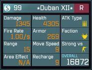 Duban XII R Lv50 Back