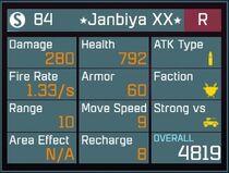 Janbiya XX R Lv1 Back