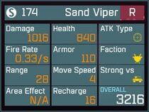 Sand Viper R Lv1 Back
