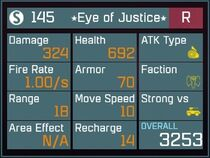 Eye of Justice R Lv1 Back