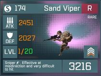 Sand Viper R Lv1 Front