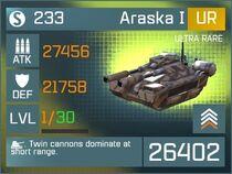Araska I UR Lv1 Front