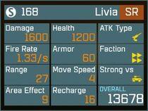 Livia SR Lv1 Back