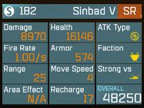 Sinbad50stats