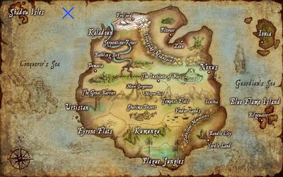 Ceruleana map
