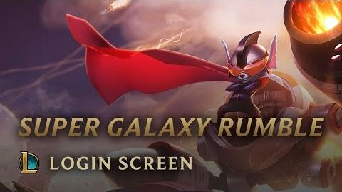 Super Galaxy Rumble - Login Screen