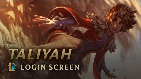 Taliyah, the Stoneweaver - Login Screen