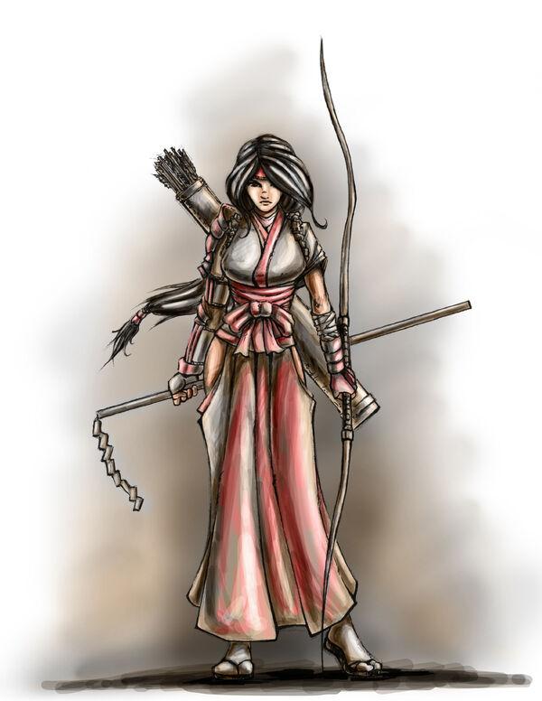 Nhan-Fiction Shrine Maiden Archer (Sketch) (1)