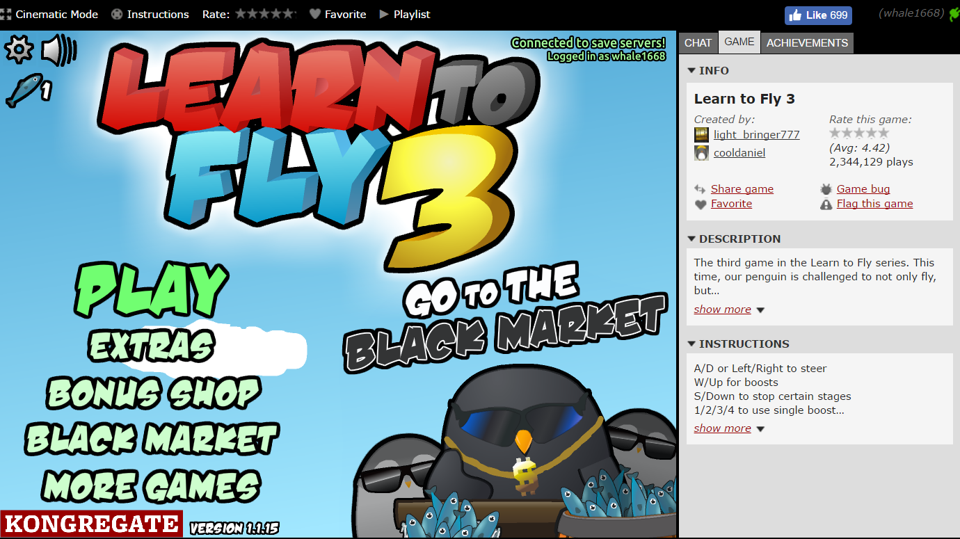 Learn to Fly - Play on Armor Games