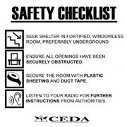 Sign safety checklist display