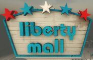Liberty Mall sign