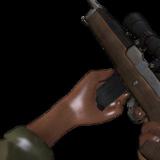 Bill cargando el rifle
