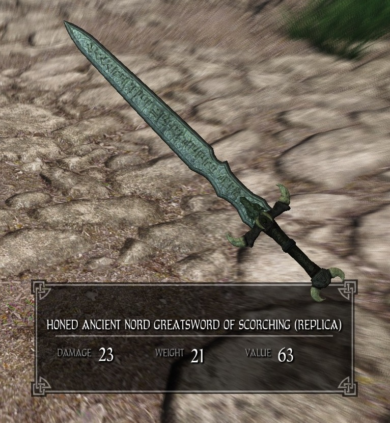 Honed Ancient Nord Greatsword Of Scorching Legacy Of The