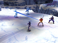 Freeze Knight uses Icicle Extension