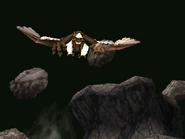Erupting Chick's roc flies in