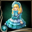 Turquoise Bisque Doll EX