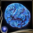 Blue Ancient Coin