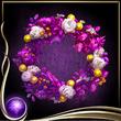 Purple Wreath of Flowers