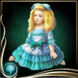 Turquoise Bisque Doll
