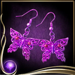 Purple Butterfly Earrings