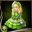 Green Bisque Doll EX