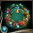 Turquoise Wreath of Flowers EX