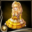 Yellow Bisque Doll EX
