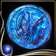 Blue Ancient Coin EX